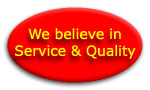 We Believe In Service  & Quality Emblem